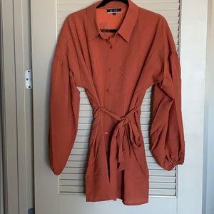 Fall dress- puff sleeves